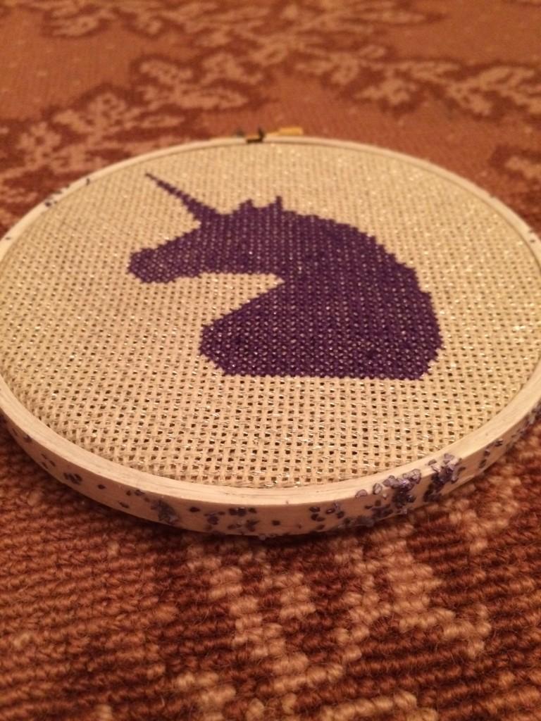 unicorn glitter hoop