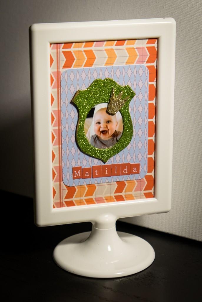 Matilda scrapbook frame
