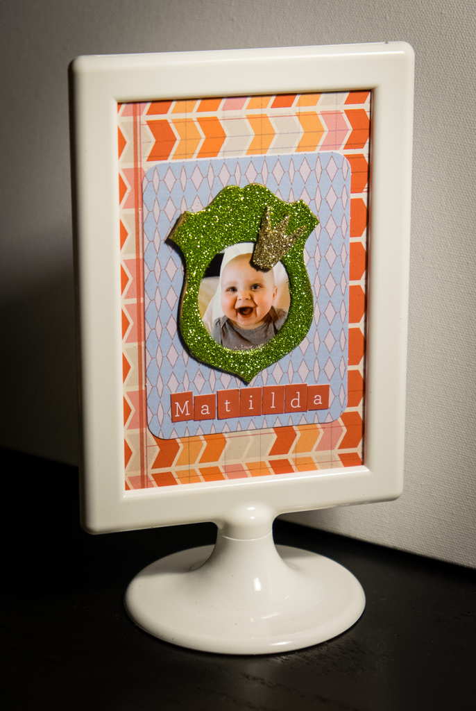 Quick and Easy Scrapbook Photo Frame