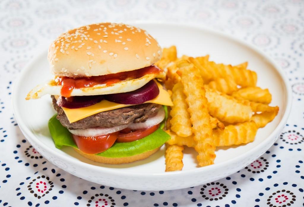 Kiwi-style Hamburger