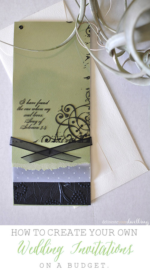 3 DIY Wedding Invitations