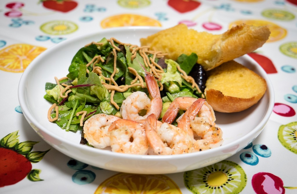 Grilled Shrimp and Salad with Citrus Vinaigrette