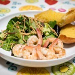 Grilled Shrimp and Salad with Citrus Vinaigrette
