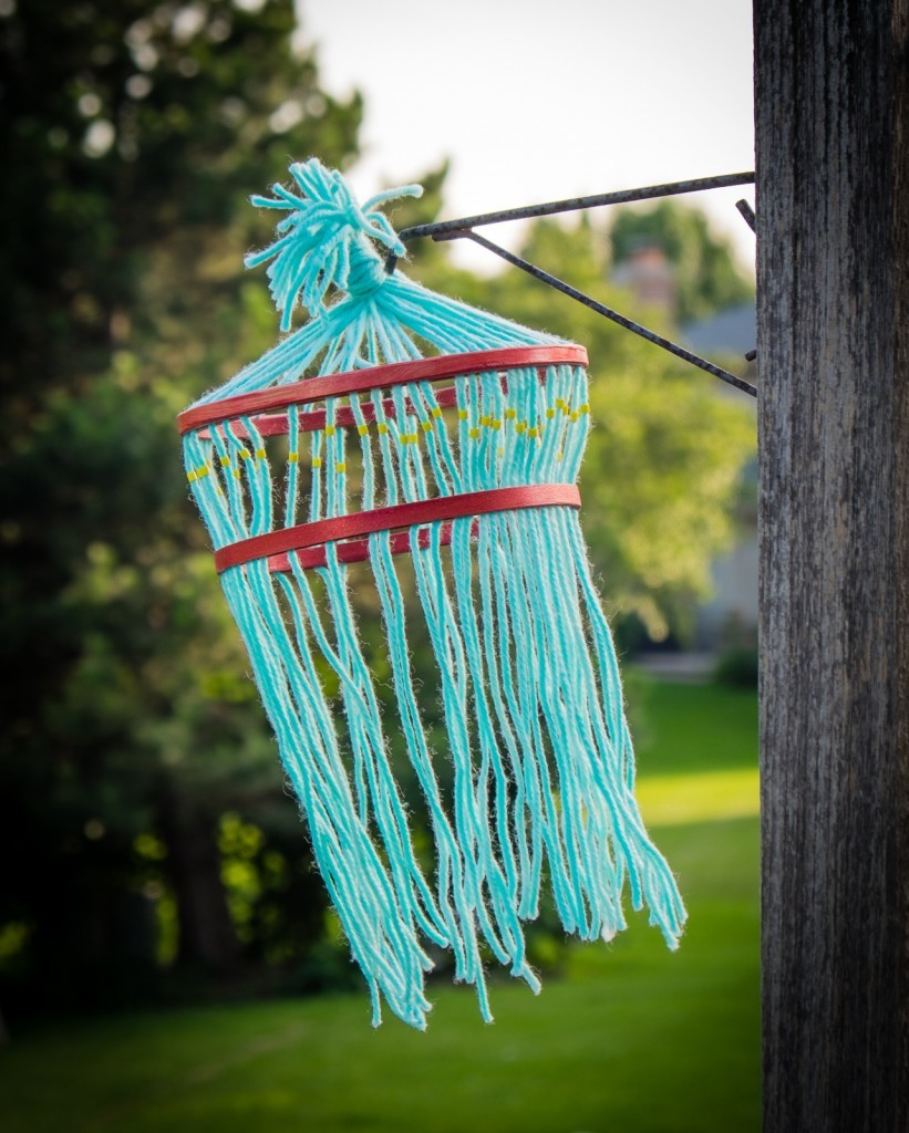 Easy Kids Yarn Chandelier