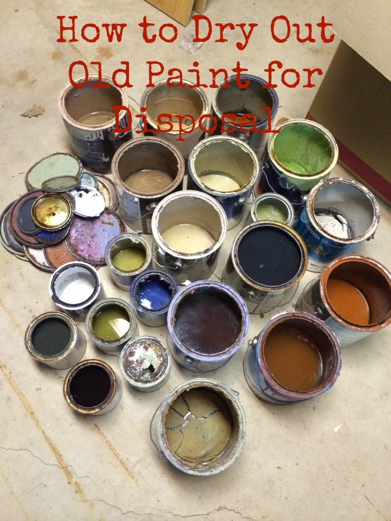 How to Dry Out Paint for Disposal