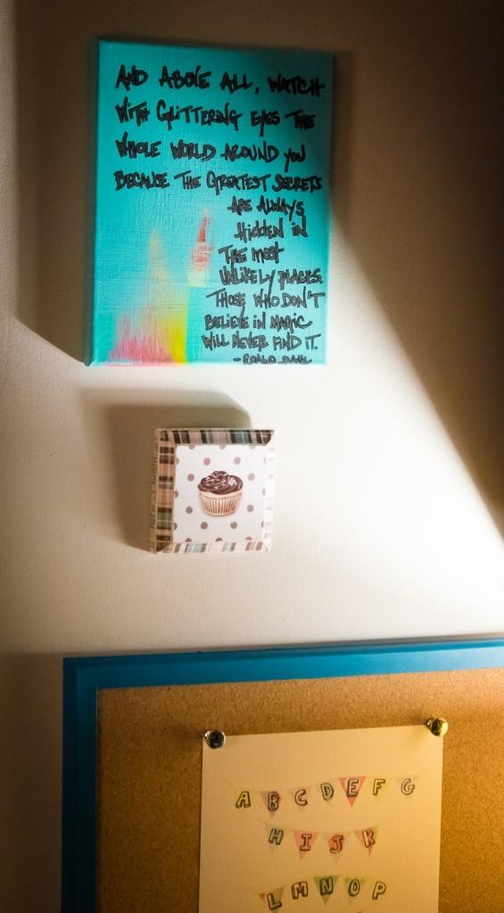 kitchen desk art