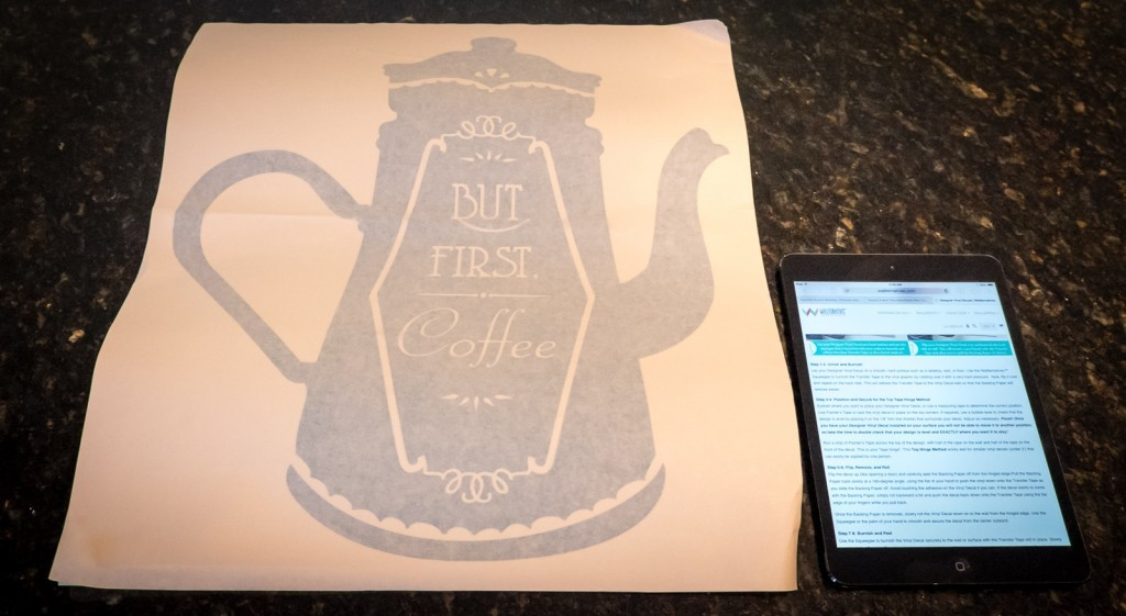 decal and instructions