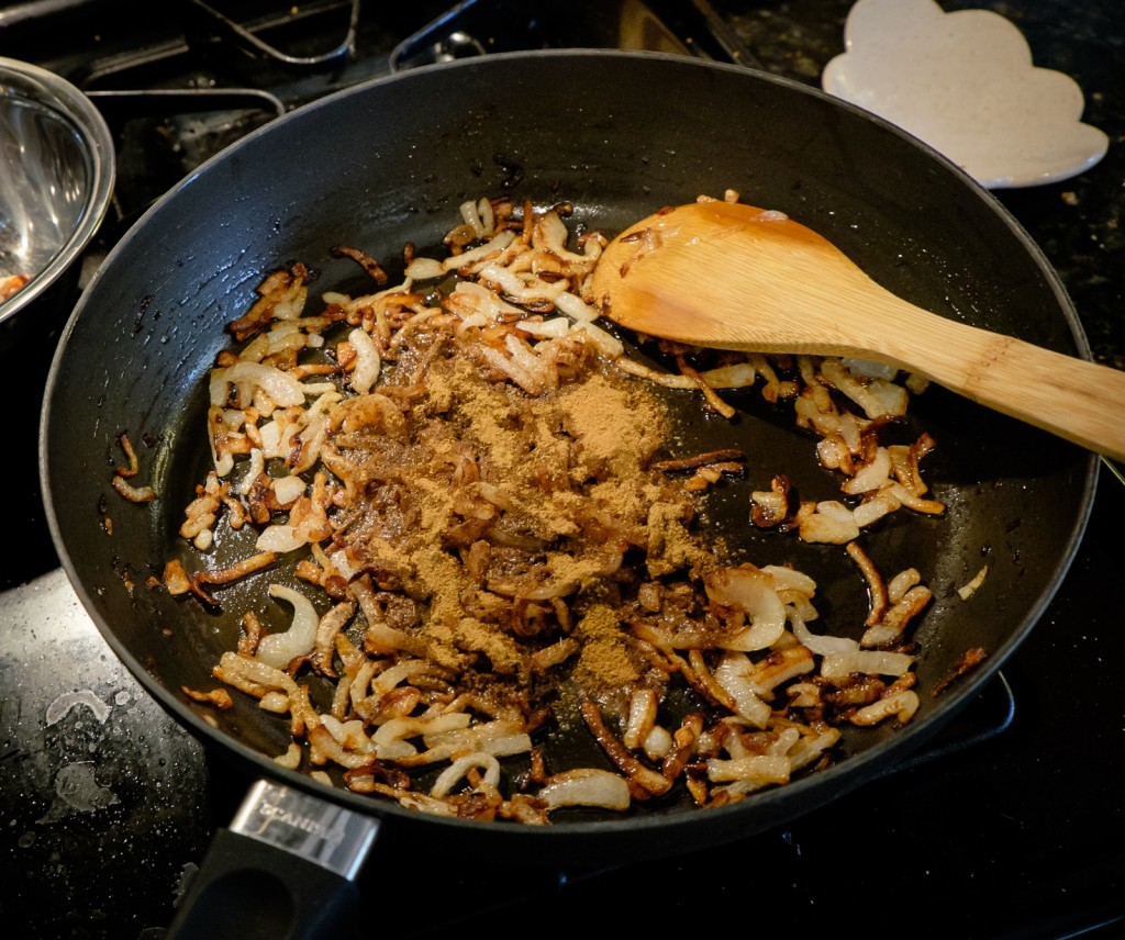 onions and spices
