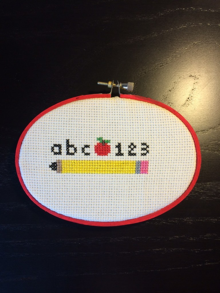 School Days Cross Stitch Pattern