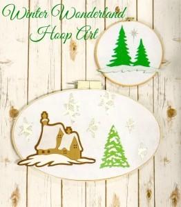 Winter Wonderland Hoop Art