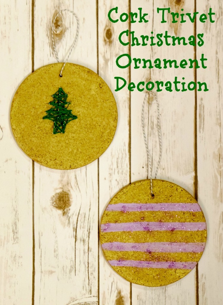 Cork Trivet Christmas Ornament Decoration