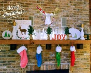 Albion Gould's Christmas Mantel 2014