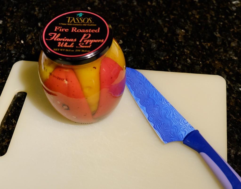 pretty jar of peppers