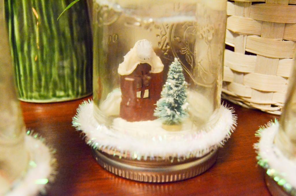 snowy terrarium craft