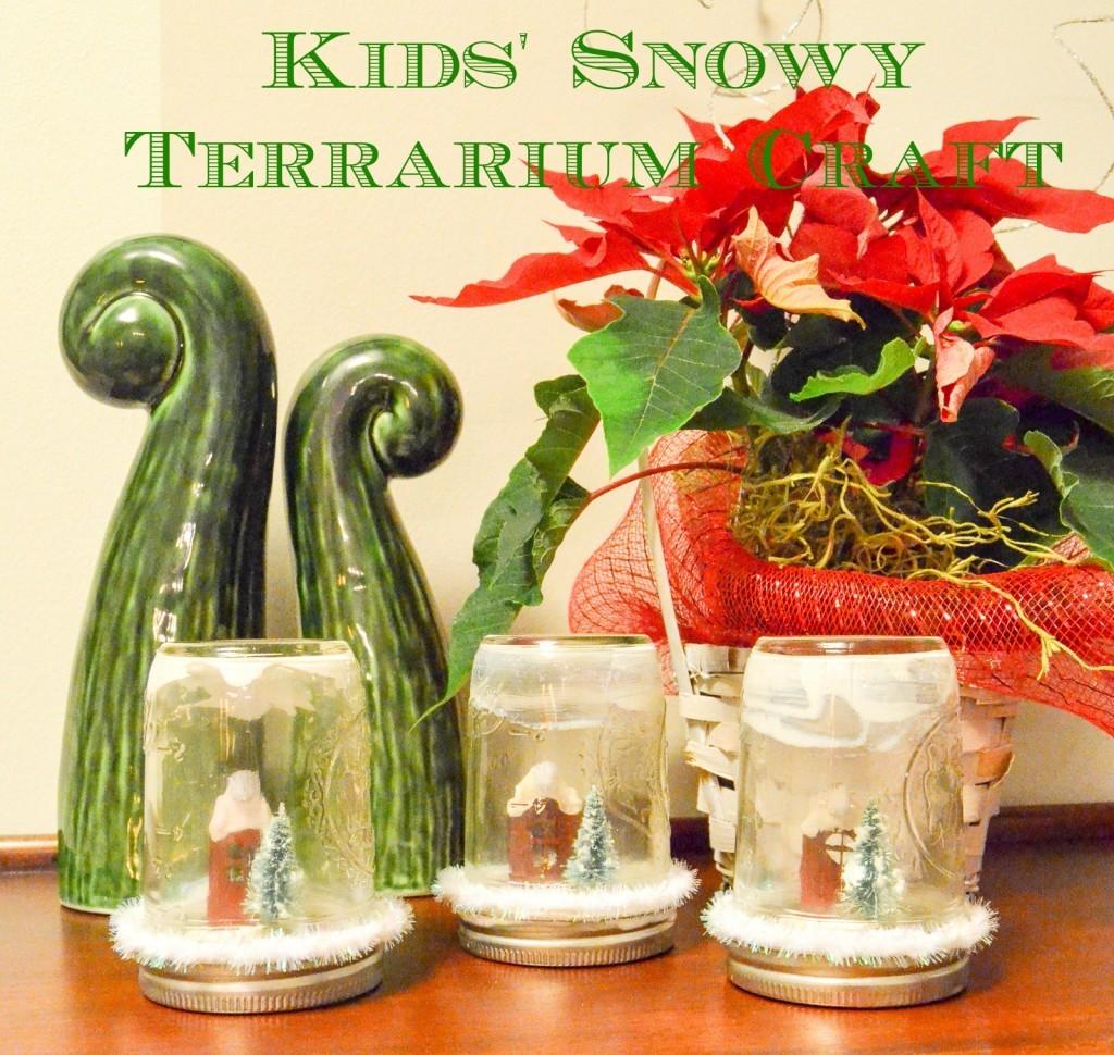 Kids' Snowy Terrarium Craft