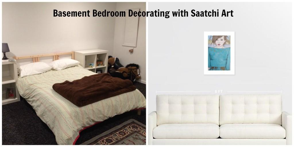 Basement Bedroom Decorating with Saatchi Art