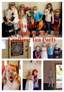 Madeline's Halloween Crafting Tea Party