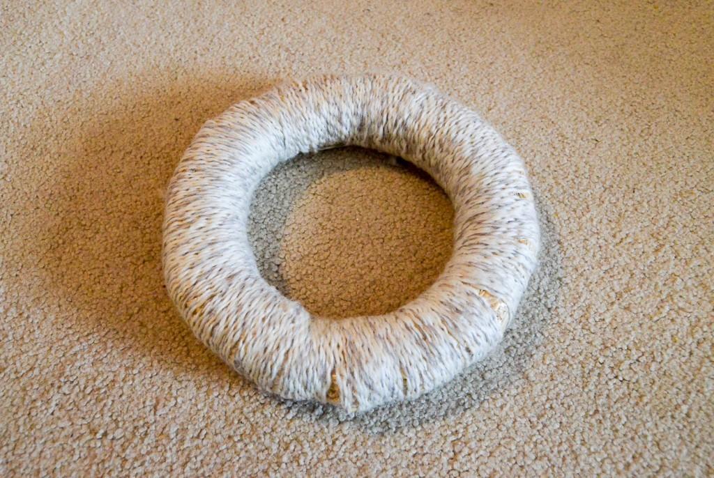 finished yarn wreath