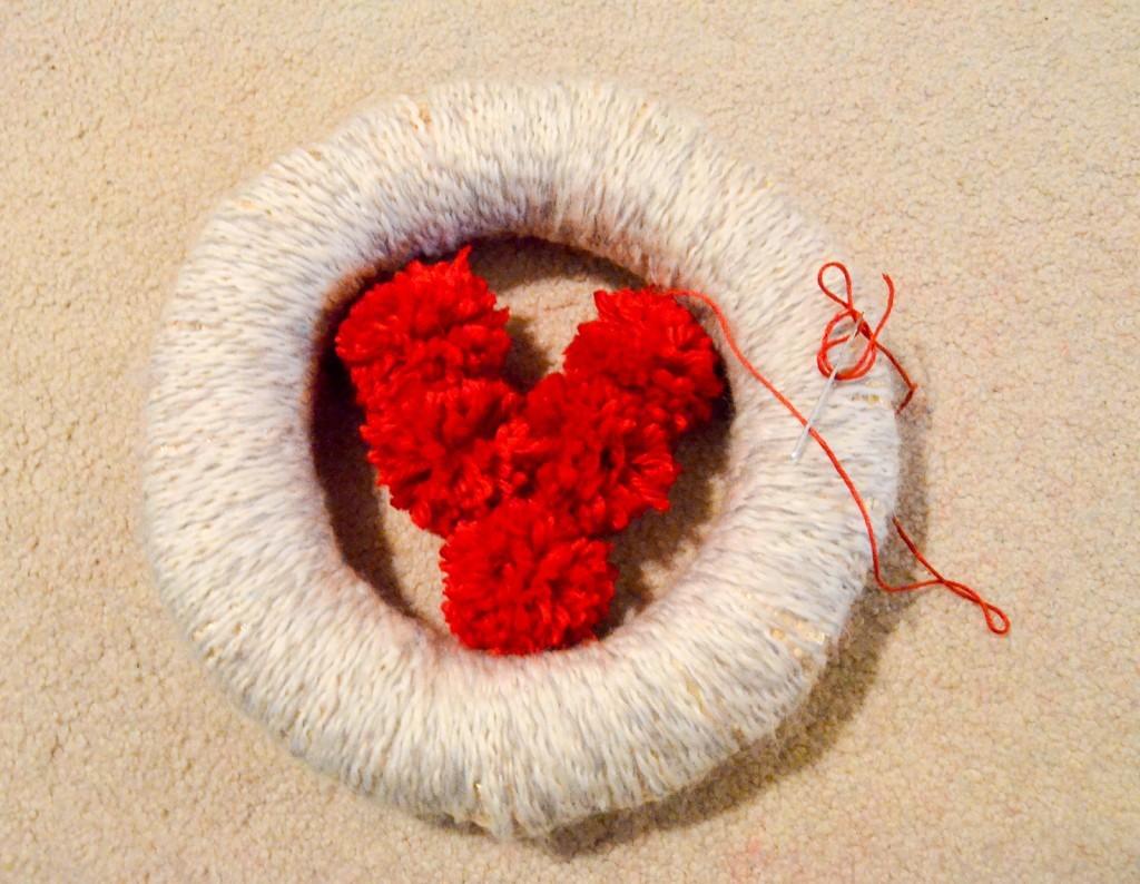 pom pom heart
