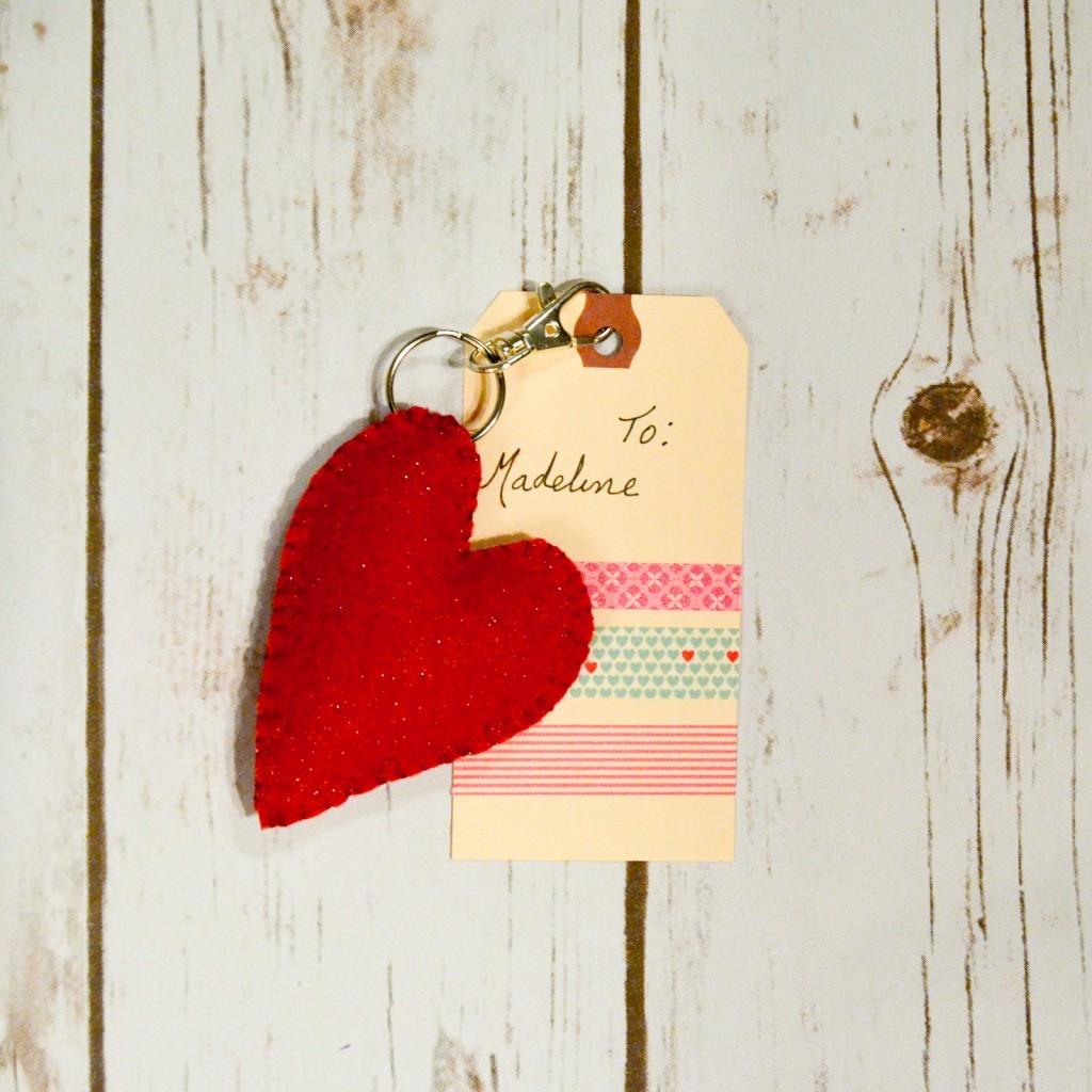 Valentine's Heart Key Fob