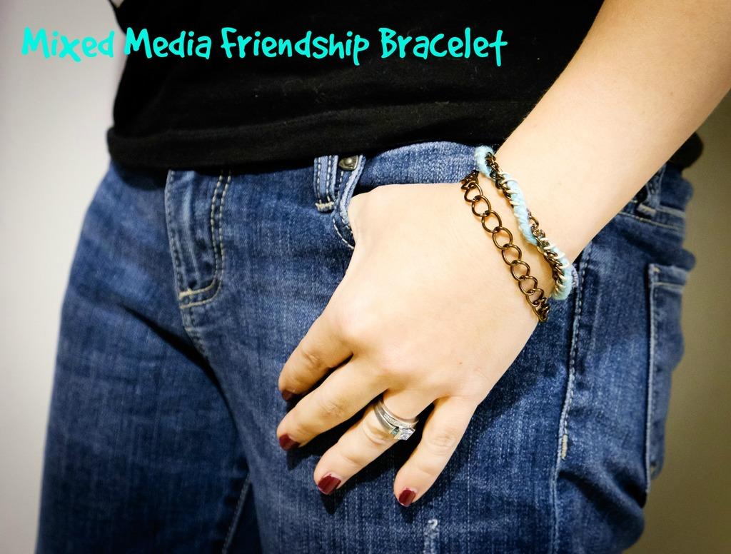 Mixed Media Friendship Bracelet