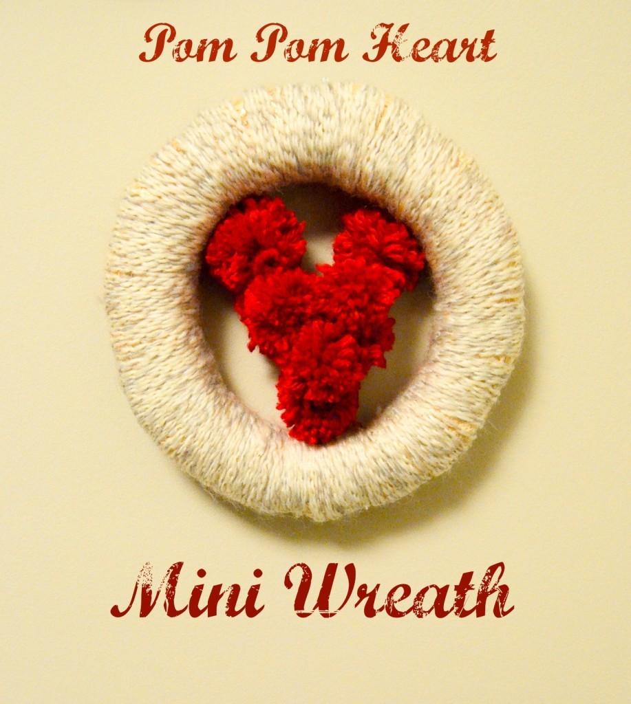 Pom Pom Heart Mini Wreath
