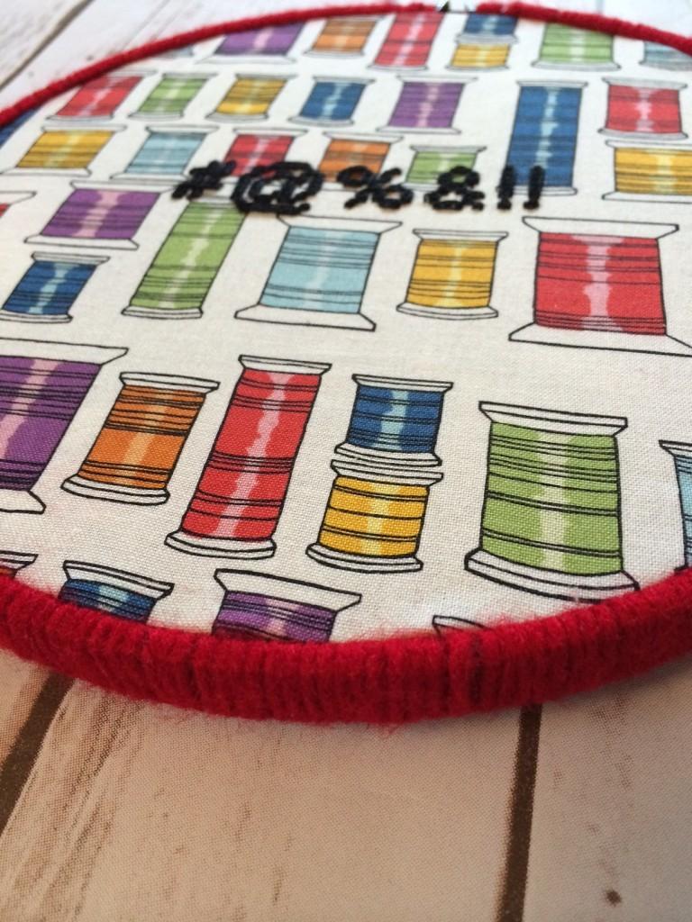 yarn-wrapped hoop