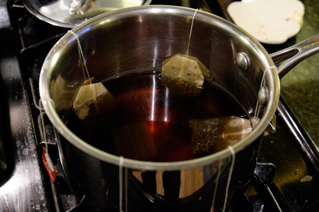 strong chai tea