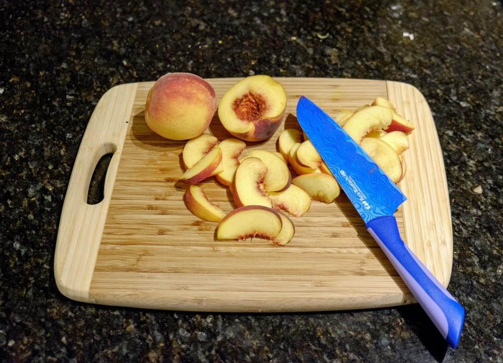 slice the peaches