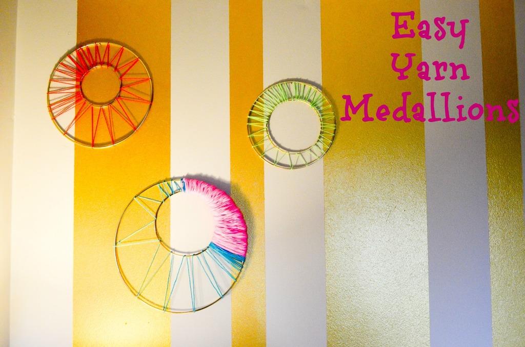 Easy Yarn Medallions