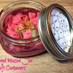 Glittered Mason Jar Gift Containers