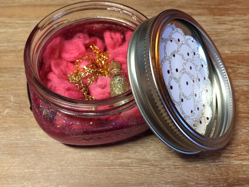 Glittered Mason Jar and Fairy Dust Necklace