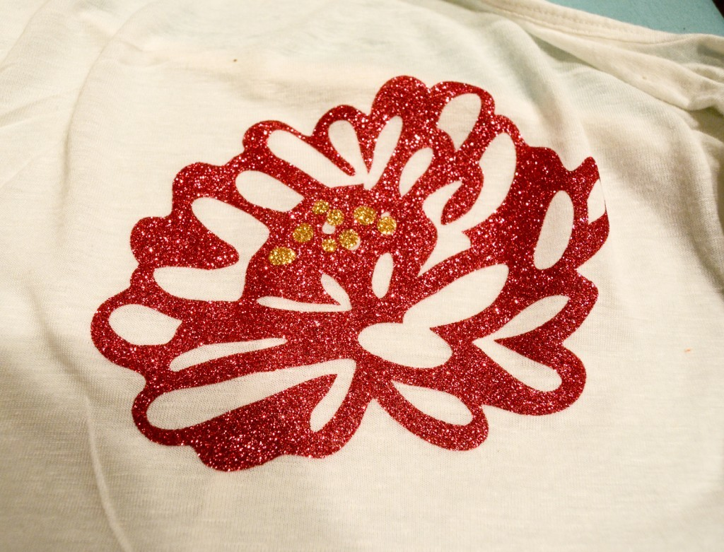 gold heat transfer glitter