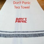 Don't Panic Tea Towel