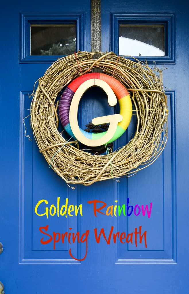 Golden Rainbow Spring Wreath