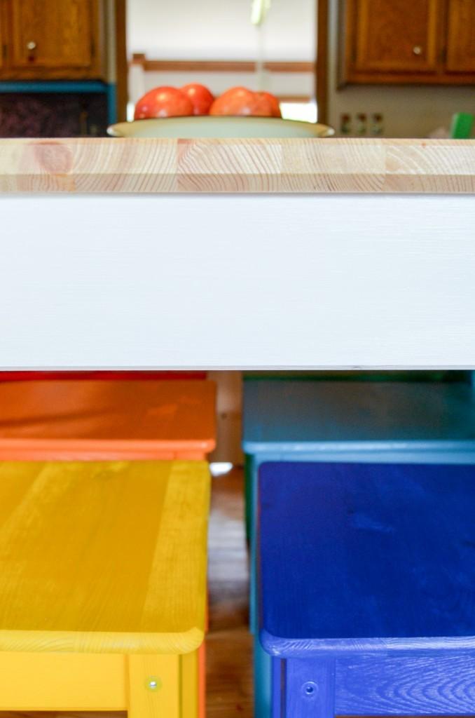 Rainbow Painted Kitchen Set