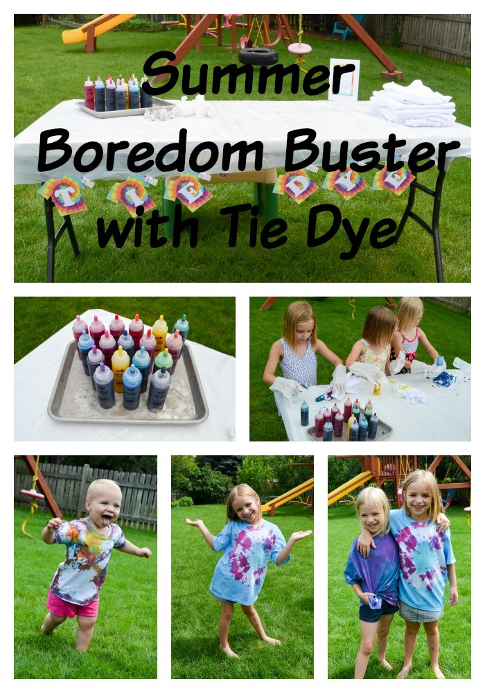 Summer Boredom Buster with Tie Dye
