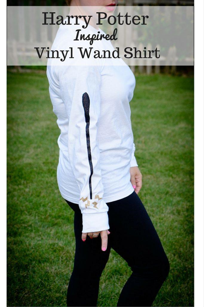 Harry Potter Inspired Vinyl Wand Shirt