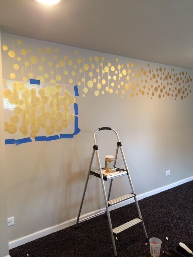 stenciled wall