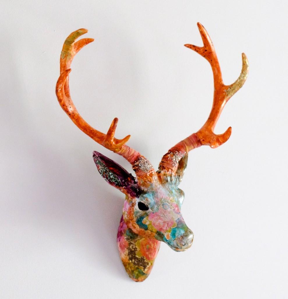 Mixed Media Deer Head