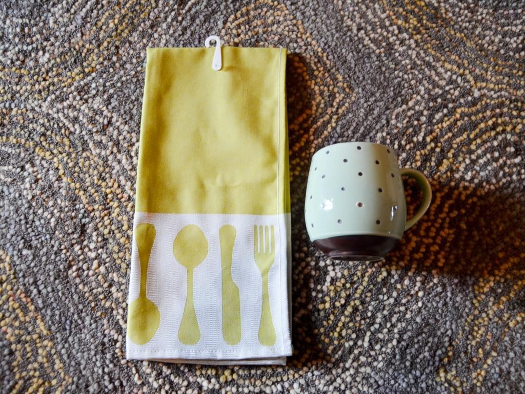 Green Utensils Kitchen Towel