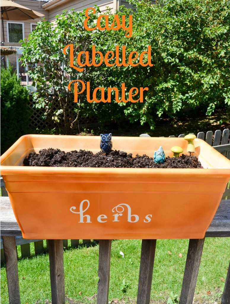 Easy Labelled Planter