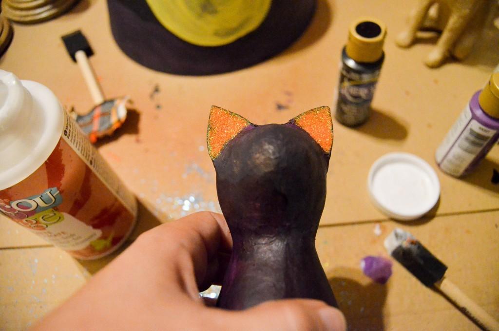orange glitter ears