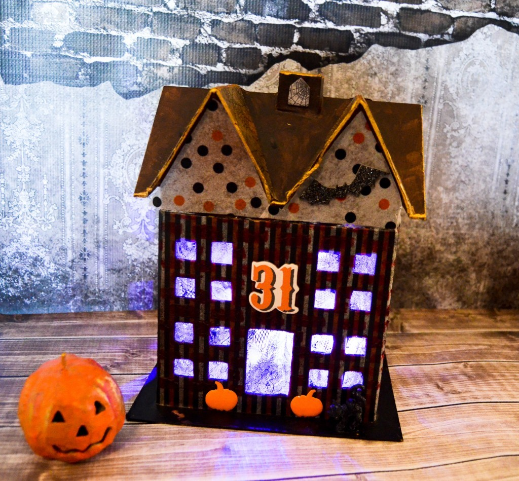 Mixed Media Haunted House
