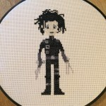 Edward Scissorhands Cross Stitch