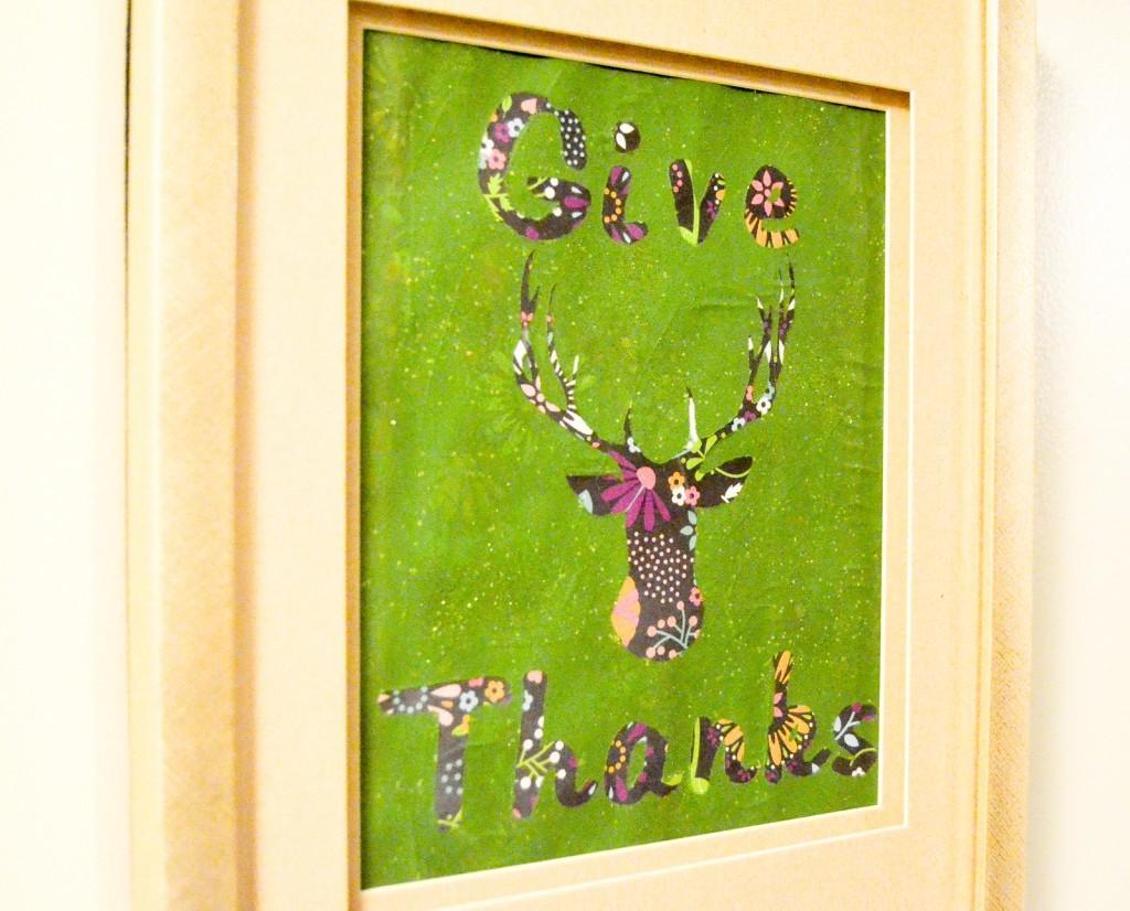 Give Thanks Framed Art