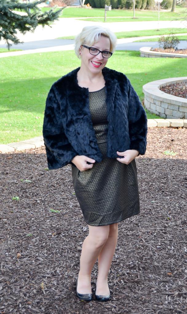 Soma Cropped Faux Fur Jacket