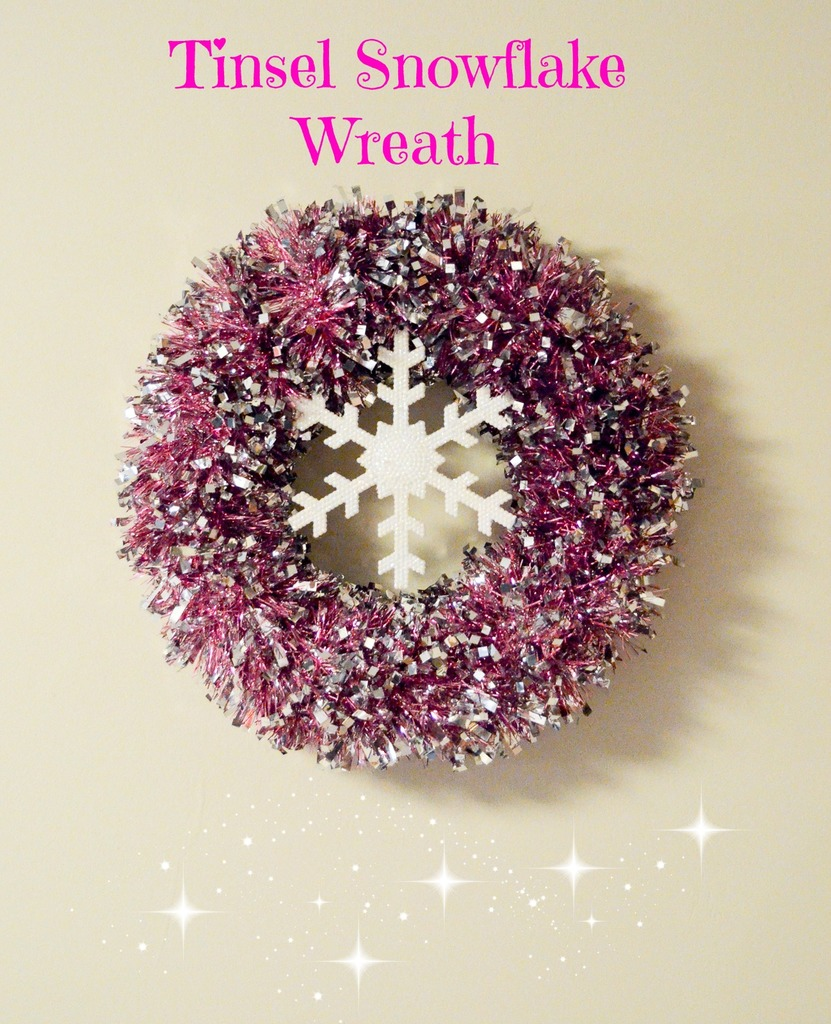 Tinsel Snowflake Wreath