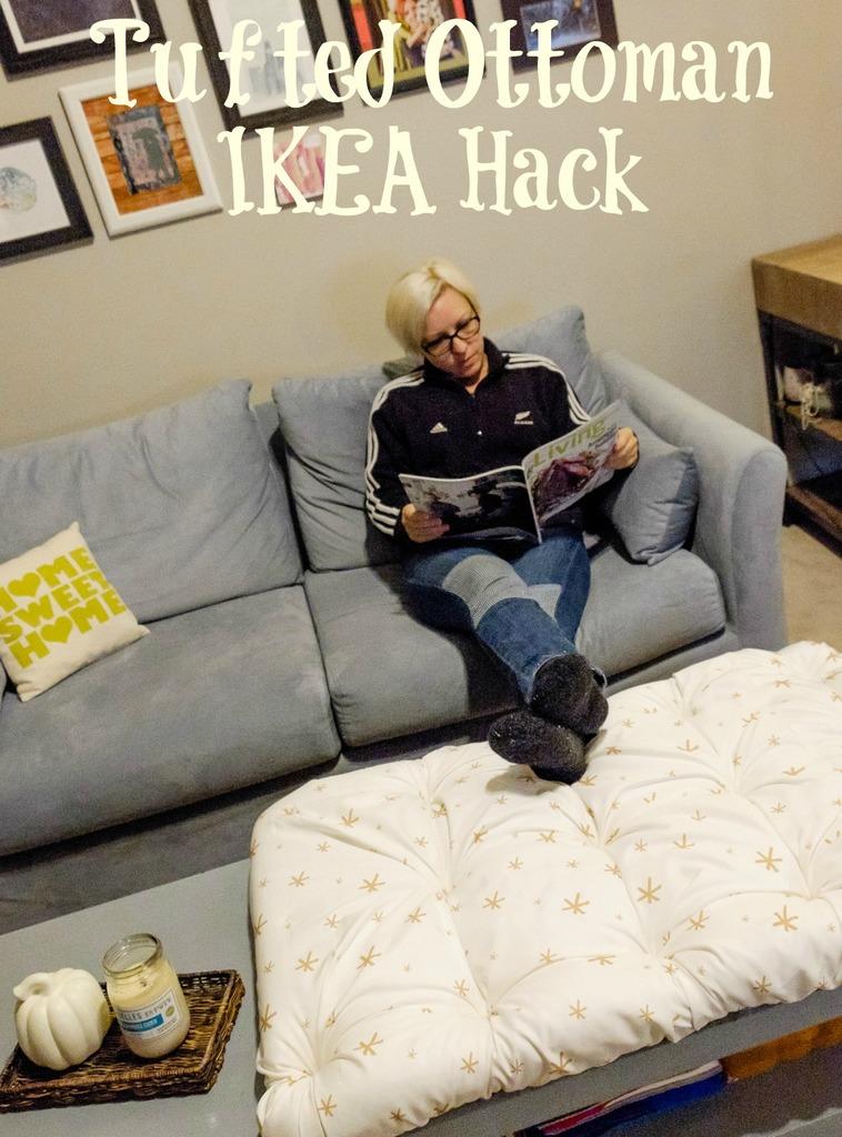 Tufted Ottoman IKEA Hack