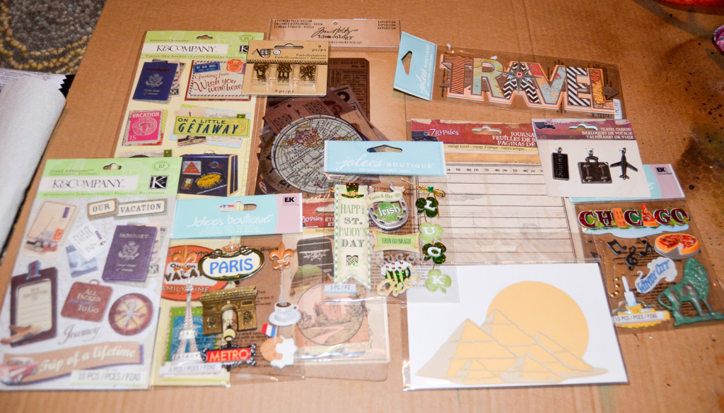 scrapbook travel pieces